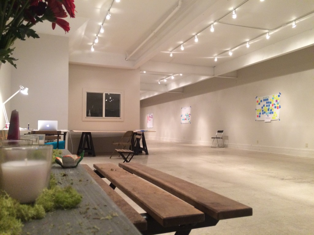 The space was blessed with new lighting and a fresh coat of paint just hours before.
